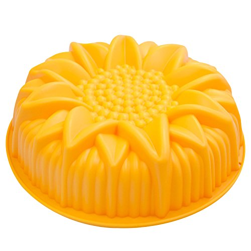 HuaYang ?Dauerhaft Waschbar Große Sonnenblume Pfanne Silikon Kuchenform DIY Backen Deko