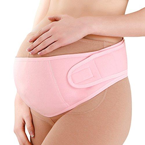 Dexinx Mutterschaft Gürtel Schwangerschaft Unterstützung Gürtel Atmungs Bauchband Einstellbare Pflege Atmungs Bauch Unterstützung Bequeme Bauch Band für die Schwangerschaft Pink L