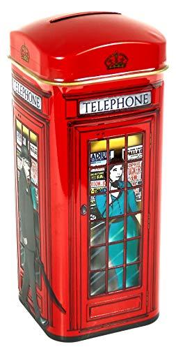 englishtea, London Red Telephone Box?Traditionelle English Tea in rot Telefon Spardose?HR18 - 3