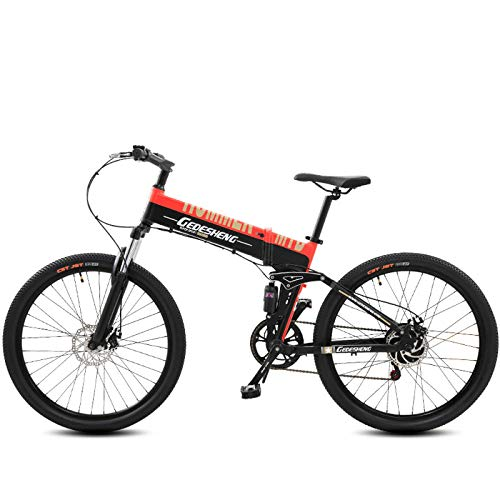 41Impf2MrLL. SS500  - GTYW, Electric, Folding, Bicycle, Mountain, Bicycle, Adult Moped, 70KM And 1W Km Free Charging Two Versions,Blue-60-70km