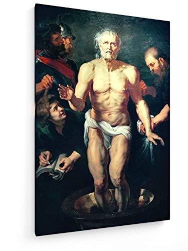 Peter Paul Rubens, Der sterbende Seneca - 60x90 cm - Textil-Leinwandbild auf Keilrahmen - Wand-Bild - Kunst, Gemälde, Foto, Bild auf Leinwand - Alte Meister/Museum
