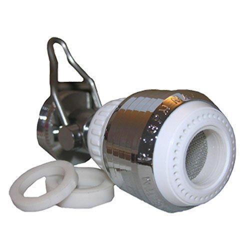 LASCO 09-1225 Dual Thread Swivel Spray Faucet with Shut Off, White by LASCO (Thread-swivel)