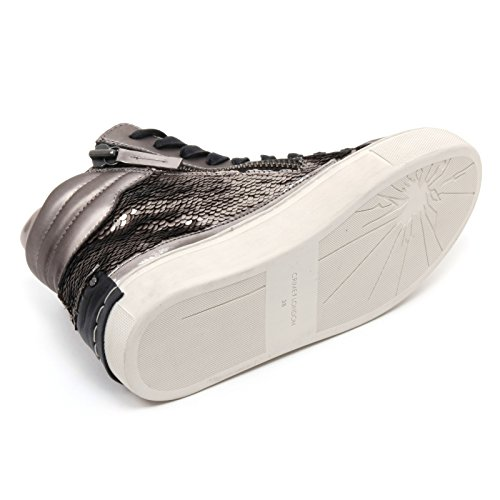 B6558 sneaker donna CRIME LONDON scarpa tortora paillettes shoe woman Tortora