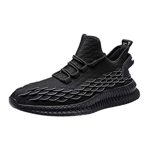 Einfarbige Bequeme Lässige Laufschuhe Atmungsaktive Herren-Mesh-Schuhe. Preiswerte Herren-Freizeitschuhe Turnschuhe Yebutt