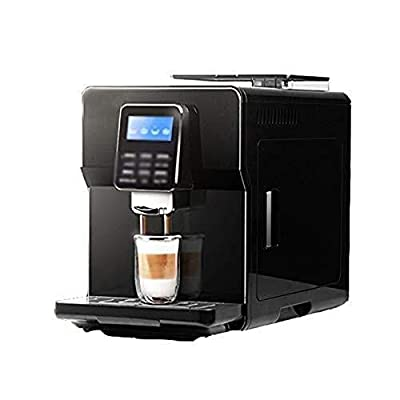 WWFF Espresso Machine, One-button Fancy Coffee Automatic Coffee Machine, Consumer And Commercial Coffee Machine, Automatic Bean Grinding System, 270mm × 410mm × 350mm Black (Color : BLACK) by WWFF