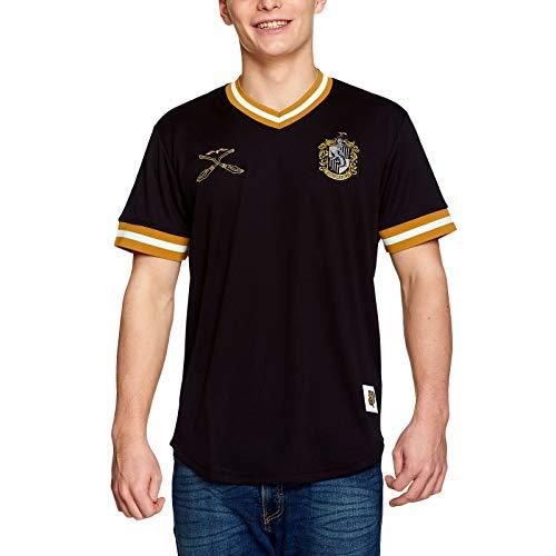 Harry Potter Herren T-Shirt Hufflepuff Quidditch Team Trikot schwarz - XL