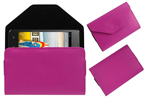 Acm Premium Pouch Case For Micromax Bolt A66 Flip Flap Cover Holder Pink  available at amazon for Rs.329