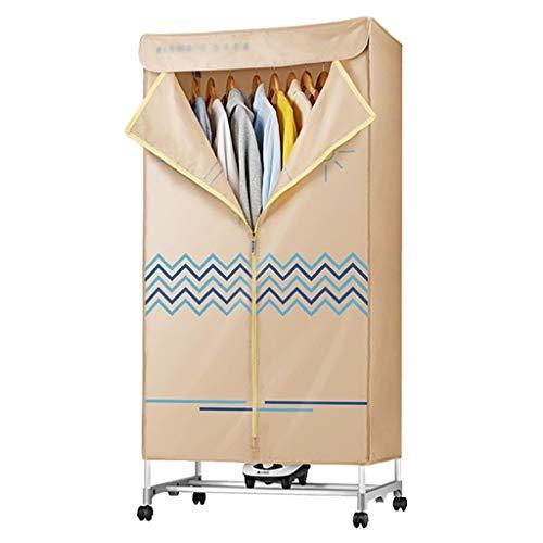 RJJX Home Wäschetrockner zum Trocknen von Kleidung, Trockner mit Heizung 1000W Heißluft Heizung 180 Minuten for Zuhause oder Schlaf Wäschetrockner (Color : Beige)