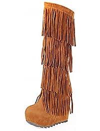 Best 4U® Damen Schuhe Kunstleder Frühling Herbst Winter Komfort Neuheit  Pumps Stiefel Keilabsatz Tassel( 5098fe2942