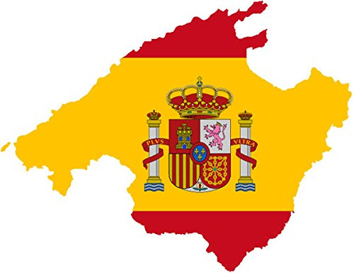 "Auto Aufkleber \"" MALLORCA \"" Insel Spanien Sticker Konturgeschnitten (ca 11 cm)"