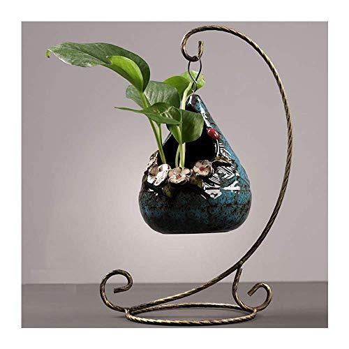 Dekoration FJH Tischskulpturen Kreative Keramik hängend grün Wasser Hydrokultur Vase Behälter Wasserpflanze Blumengesteck Blume