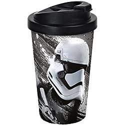 STAR WARS 13002Coffee to go, Vaso Episodio VII, Stormtrooper Coffee to go, plástico, 9x 9x 17cm