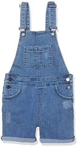 Mexx Mädchen Overall, per Pack Blau (Denim Light Wash 300024), 164 (Herstellergröße: 164) - Denim Kinder Overalls