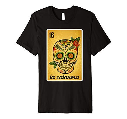 Das Schädel-Lotterie-mexikanisches Lotterie-Bingo-Hemd, der