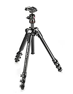Manfrotto MKBFRA4-BH Kit Befree con Testa a Sfera per Fotocamera e Sacca di Trasporto, 4 Sezioni in Alluminio, Nero