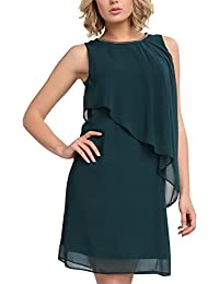 APART Fashion Glamour Golden-Eye & Midnight Forrest-Black, Vestito Donna