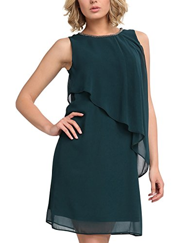 APART Fashion Damen Kleid 23051, Grün (Smaragd), 42 (Partykleid Grün Smaragd)