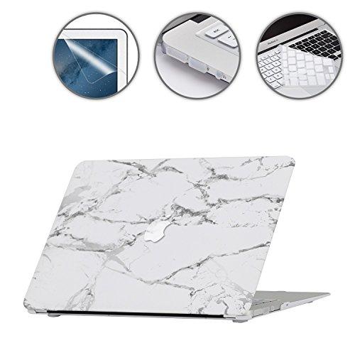 """i-Buy Coque Rigide Housse pour Apple MacBook Air 13.3""""(Modèle A1369/A1466) + Clavier Coque de Protection + Film de protection d'écran + Protection anti-poussière - Marbre"""