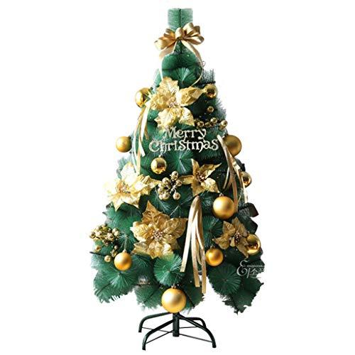 Gjif albero di natale dorato - 1,5/1,8 m albero di pino luminoso con ornamenti di natale (dimensioni : 180cm)