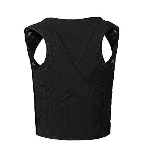 Posture Correction LuckyFine Shoulder Back Brace Belt Posture Corrector Back Support for Men/ Women XL