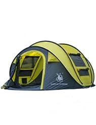 Tente extérieur 3–4personnes Camping Lancers de main ouverte de camping Vent et de l'eau complète d'expédition