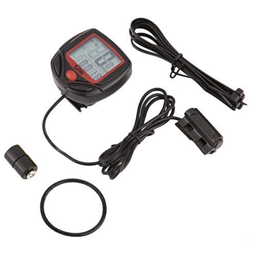 Harlls SUNDING SD-546B Wired Multifunktionale Fahrradcomputer Mini Kilometerzähler Stoppuhr Portable Digital LCD Wasserdicht Tacho - Schwarz