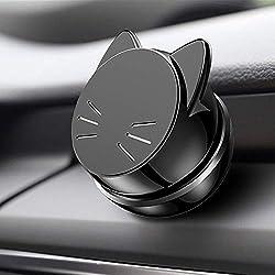 Best Autotelefonhalter 100% Universal Magnetic Dashboard Mount Kit von für alle Fahrzeuge, Handys & Tablets | iPhone X, 8,7 Galaxy S8 S7 | 2 Discs & Plate Inc. | Top Rated von Uber Treiber(schwarz)