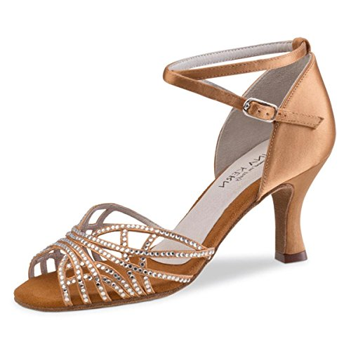Anna Kern Ladies Dance Shoes 700-60 - Bronzo Satinato - Bronzo 6 Cm