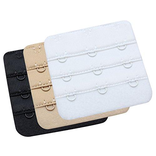 Wingslove Damen BH-Erweiterung, Frauen BH-Trager-Extender Erweiterung Flexible (Weiss, schwarz, nackt) -