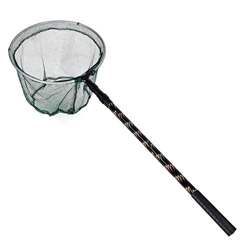 TOOGOO(R) 180CM Versenkbare Kescher Netz Unterfangskescher Pole Fishing Brail Kescher Tackle(gruen)