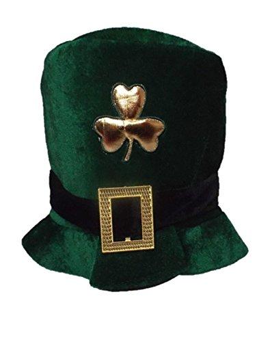 Bristol Novelty bh398Samt Irische Hat, grün, One Size (Fußball Shamrock)