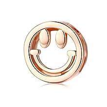 Fascino in oro rosa con ciondolo in argento sterling 925 con ciondoli misura Reflexion e altri europei per bracciali e collane