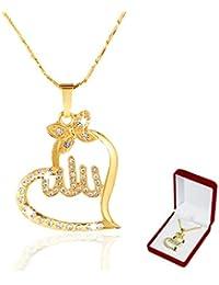 811f746ada51 SAFIYA - Halskette für Muslimische Frauen Kette Anhänger Schmuck Allah  arabischen Nahen Osten Islam