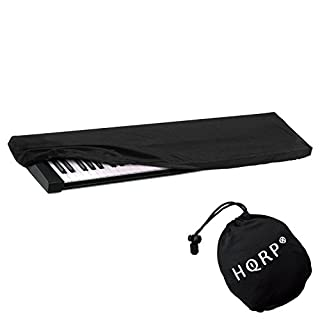 HQRP Elastic Keyboard Dust Cover for M-Audio Code 61, Oxygen 61 MK IV, Keystation 61 II, Axiom AIR 61, Axiom 61, Axiom Pro 61 Digital Piano Synthesizer + HQRP Coaster
