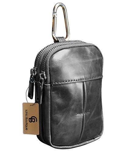 Leder Hüfttasche Bauchtasche Gürtel-Tasche Outdoor Sport Reise Style C