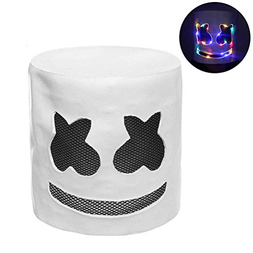 Musik Kostüm Elektronische - Led DJ Maske für Kinder- Maske Festival der Elektronischen Musik Helme für Halloween DJ Mask Halloween Party Cosplay Kostüm Bar Musik Abschlussball Requisiten