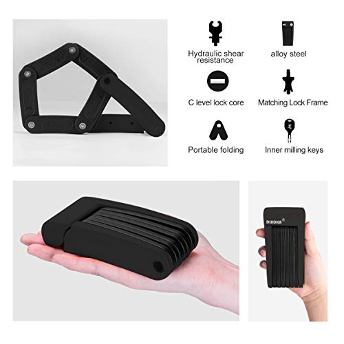 Zoom IMG-3 dinoka lucchetto bici antifurto portatile