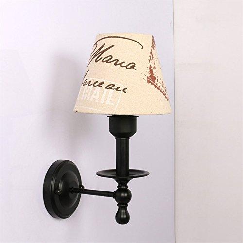 Industrial Vintage Wandleuchte kreative Nachttischlampe Schlafzimmer Lampe kreative Treppe Wandleuchten Wandleuchten Balkon LED Wandleuchte,englische Zeitung