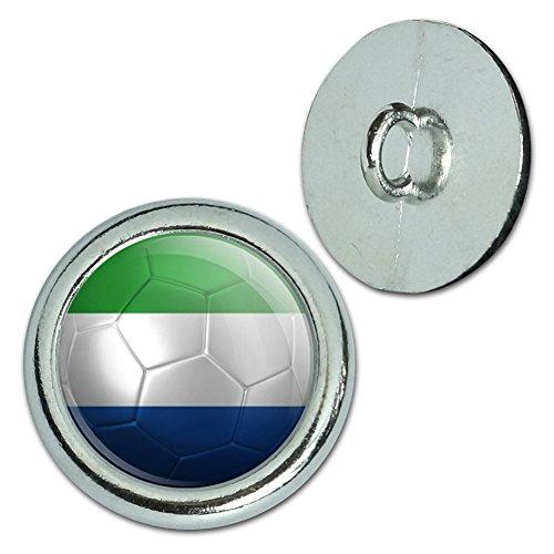 Metall Craft Nähen Neuheit Tasten–Set von 4–Soccer Futbol Fußball Country Flagge-Z, metall, Sierra Leone Flag Soccer Ball (Sierra Druckknopf)