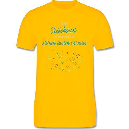 Sonstige Berufe - Erzieherin aus vielen kleinen Gründen - Herren Premium T-Shirt Gelb