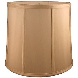 American Pride Lampshade Co. 72-78097014 Round Soft Shantung Tailored Lampshade, Honey