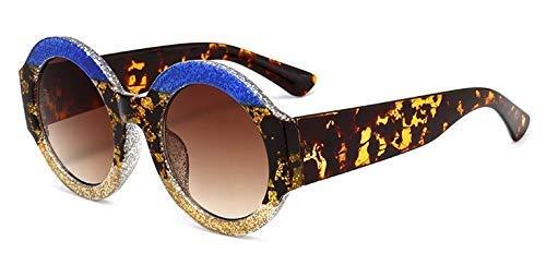 GFF Rot grün runde Sonnenbrille Frauen Rahmen UV400 Nähen Brille Designer Mode weiblich 45310