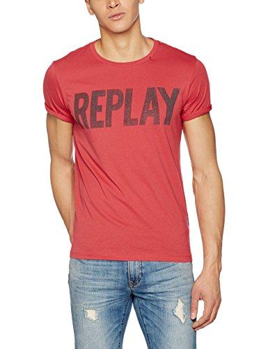Replay Herren T-Shirt M3261 .000.2660, Rot (Spring Red 159), Small