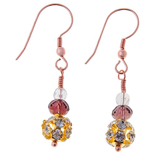 Sitara Collections SC5545 Anokhi Glass and Crystal Bead Earrings