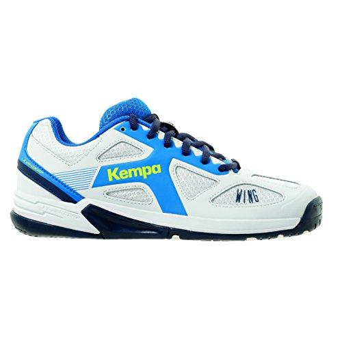 Kempa Unisex-Kinder Wing Junior Handballschuhe, Weiß (White/fair blue/Navy), 36 EU