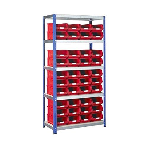 Bin Regalsystem (echtem 1x BSS Red Storage Bin- und Standard-Regalsystem-Teilenummer sb63re)