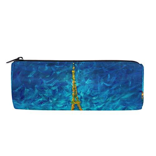 Wamika Paris Eiffelturm Night Stifteetui, River Seine Frauen Make-up Tasche Kosmetik Aufbewahrungstasche Halter Box Organizer Büro Zubehör