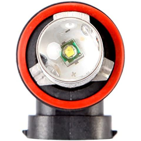 Kingzer Super brillante 2x 7W H8H11LED coche niebla lámpara de luz estroboscópica Flash luz bombillas