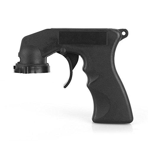 Keenso Lackspraydosenhandgriff Farbspritzpistole Griff Sprühdose Griff KFZ Locking Sprayer Adapter mit vollem Griff Trigger Locking Collar -