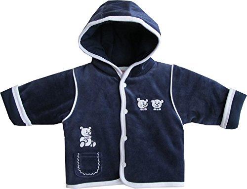 Schnizler Jungen Jacke Kapuzenjacke Nicki Sweet White Bear, Gr. 50, Blau (original 900)